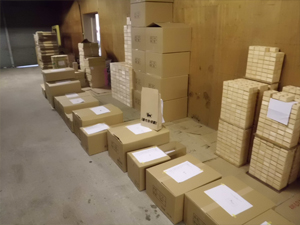 Ready for shipping masu cups in cardboard boxes